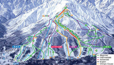 Happo One Ski Resort Japan Piste Map