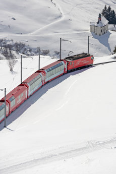 The Glacier Express - Andermatt Ski Resort