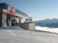Kitzbuhel ski lift and cloud inversion