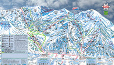 Alta Ski Resort Trail and Piste Map