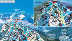Aspen Mountain Ski Area Trail and Resort Map