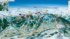 Aspen Snowmass Ski Area Trail and Piste Map