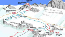 Cortina Ski Resort Piste Map Part 1