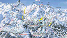 Courchevel Valley Piste Map