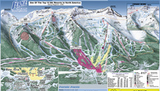 Fernie Ski Resort Piste Map