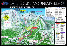 Lake Louise Ski Trail and Piste Map Front Side