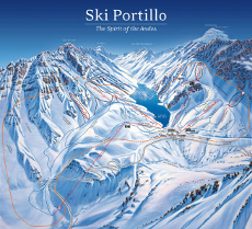 Piste Map - Portillio Ski Resort