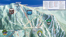 Sierra at Lake Tahoe Ski Trail and Piste Map