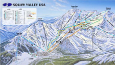 Squaw Valley Ski Trail and Piste Map