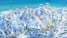 St Martin and Les Menuires Piste Map