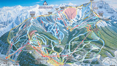 Telluride Ski Area Trail and Piste Map