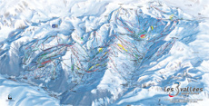 Three Valleys Piste Map, France