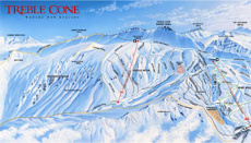 Treble Cone New Zealand Piste and Trail Map