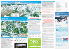 Vail Ski Area Trail and Piste Map