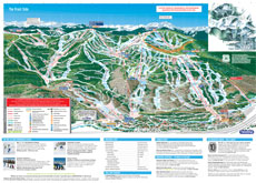 Ski Area Trail and Piste Map