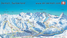 Zermatt Ski Resort Piste Map