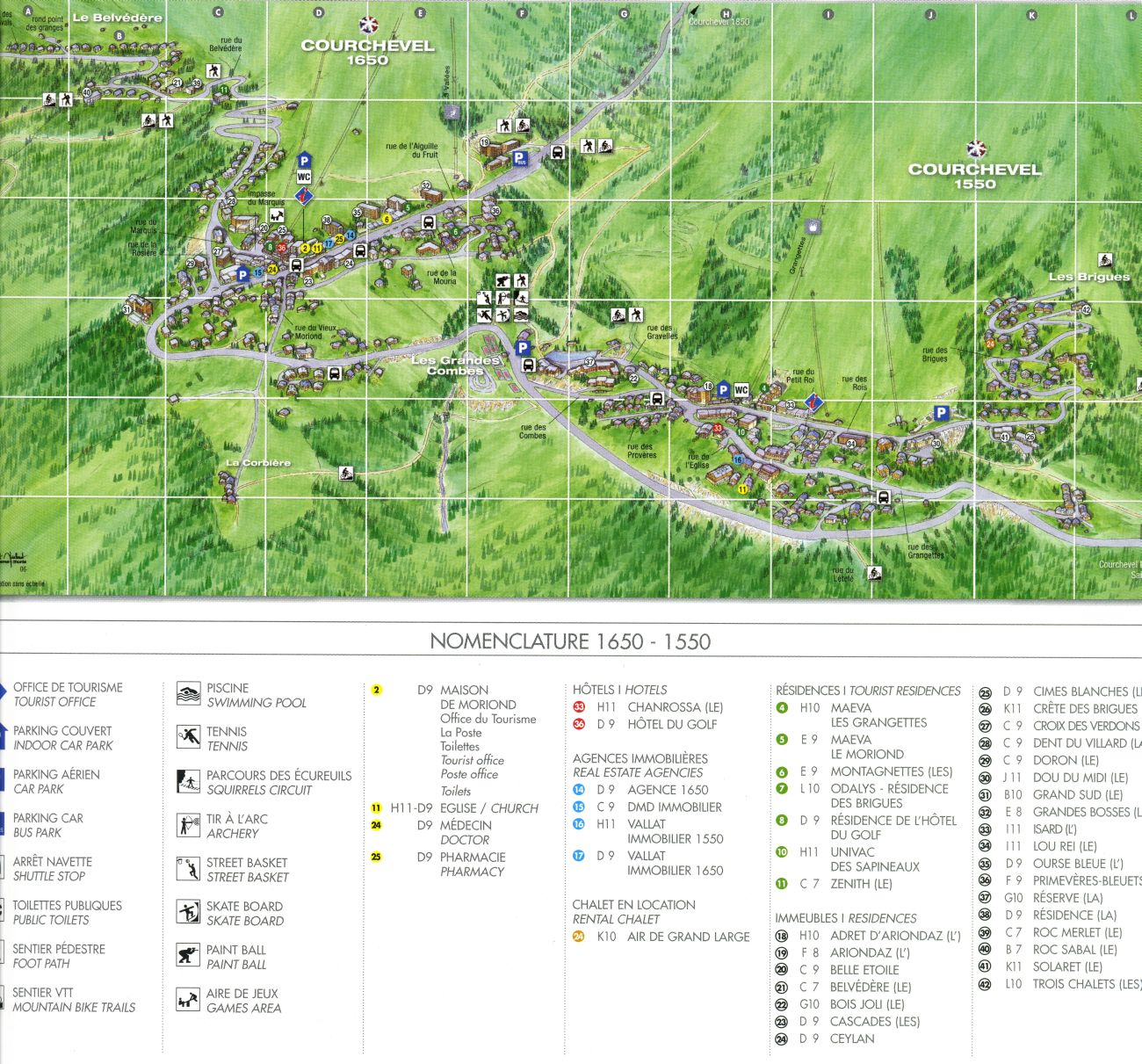 Courchevel 1650 Moriond Resort Map