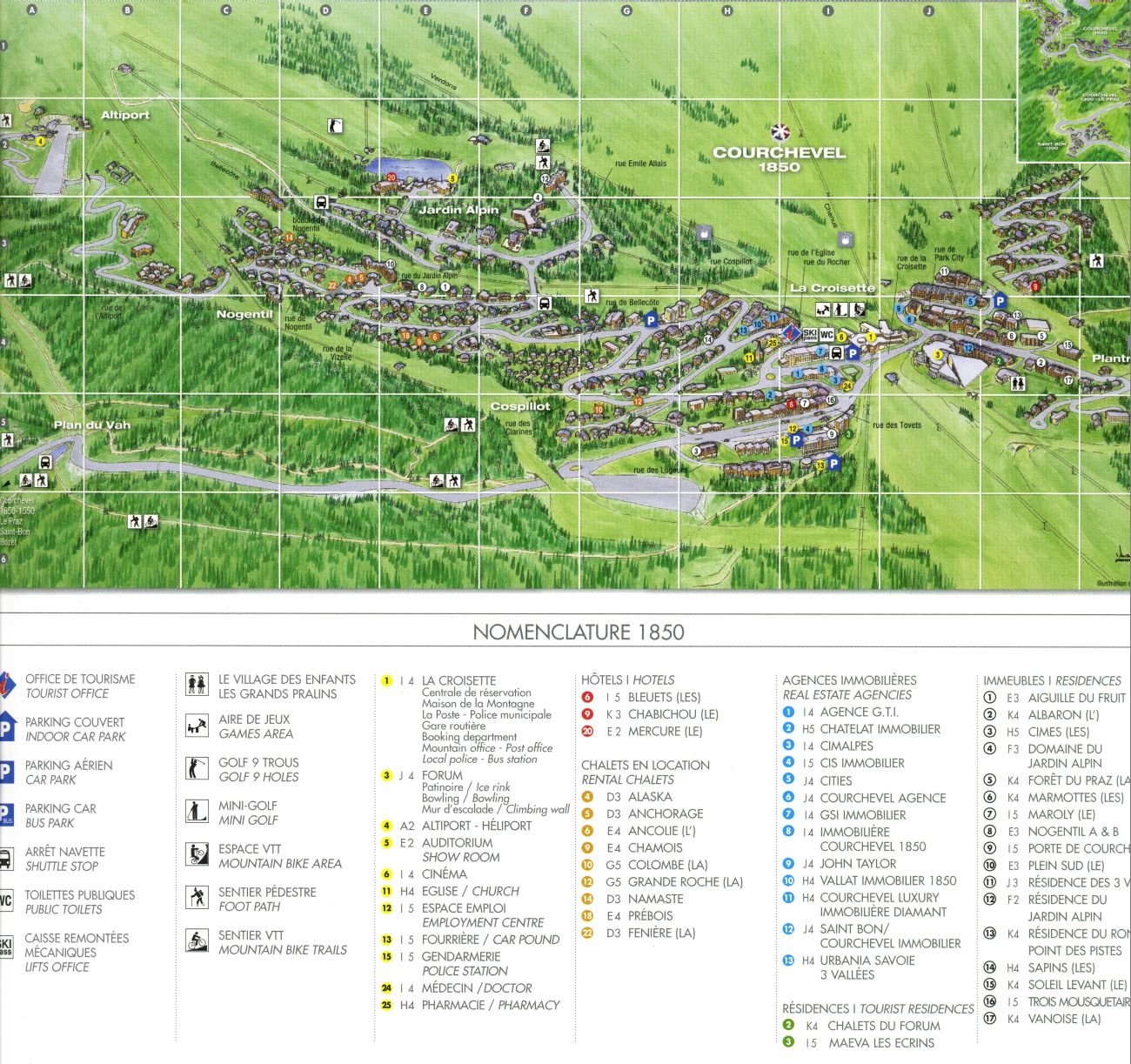 Courchevel 1850 Resort Map