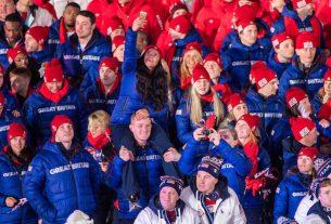 Team GB at Pyeongchang Winter Olympics Closing Ceremony