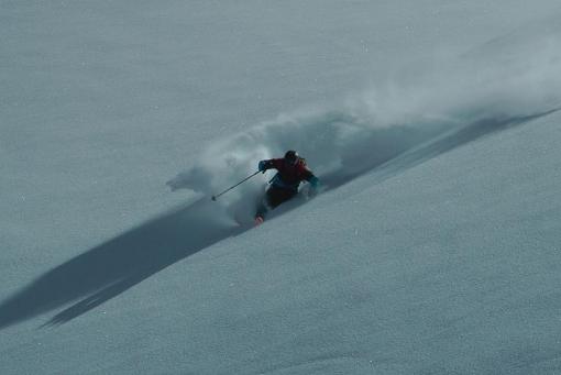 Gulmarg, Tim making the first descent. Matt Appleford
